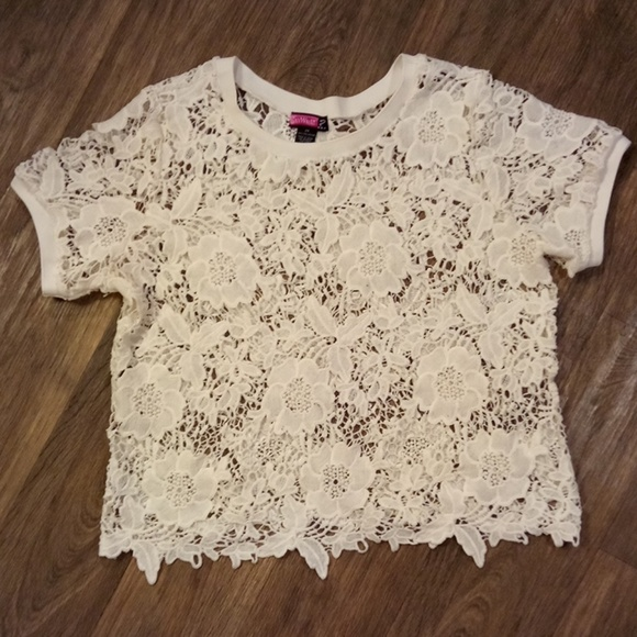 Say What? Tops - Women's Flower Lace Blouse Size 2X